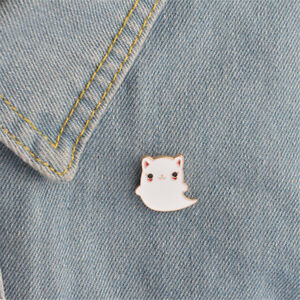 Animal-Enamel-cartoon-Cat-Ghost-pins-brooches-badges-pins-Jewelry-Accessory-XC