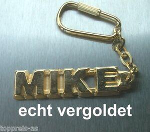 Edler SchlÜsselanhÄnger Mike Vergoldet Gold Name Keychain Weihnachtsgeschenk