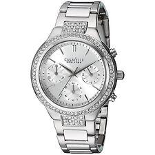 Caravelle New York Watch Women's 43L186 Quartz Chronograph Crystal Accents Watch