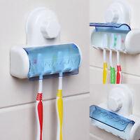Home Bathroom Toothbrush SpinBrush Suction Holder Stand Rack Plastic 5 Racks