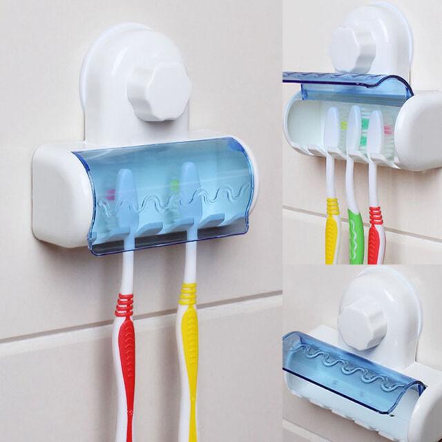 5er Zahnbürstenhalter Zahnbürste Wand Halter Saugnapf mit Schutzkappe HomeDE