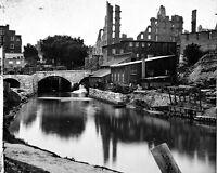 8x10 Civil War Photo: Lynchburg Canal Near Flour Mills In Richmond, 1865