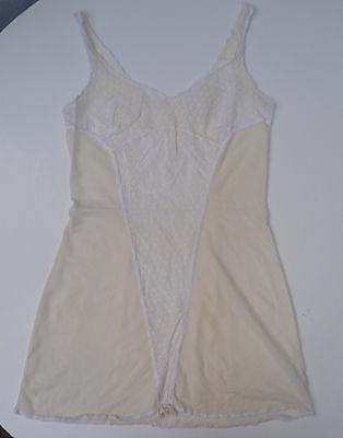 Ddr Unterkleid Unterrock 70er Nylon Beige S 36