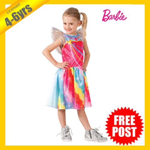 RUBIES Girls Costume Fancy Dress Licensed Barbie Fairy Wings Colour Rainbow 7411