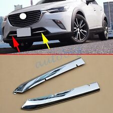 Chrome Front Grill Cover For Mazda CX3 2016 Bumper Air Inlet Accessories Grille