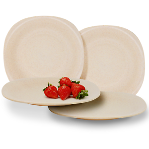 Set-of-4-Eco-Friendly-Wheat-Straw-Plates-Unbreakable-Tableware-For-Kids-M-amp-W