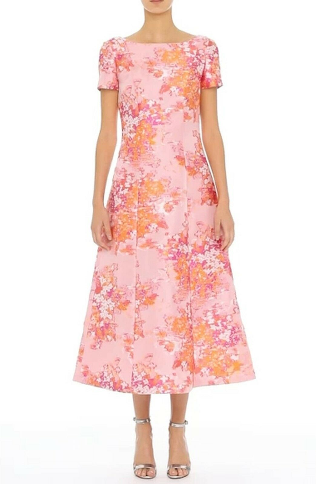 St. John Collection Washed Bouquet Jacquard Dress   ( Size 12 )