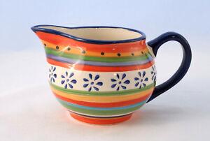 Casa-Domani-Ceramic-Ipanema-Jug-Glazed-Pottery-87mm-Hand-Painted-Pitcher