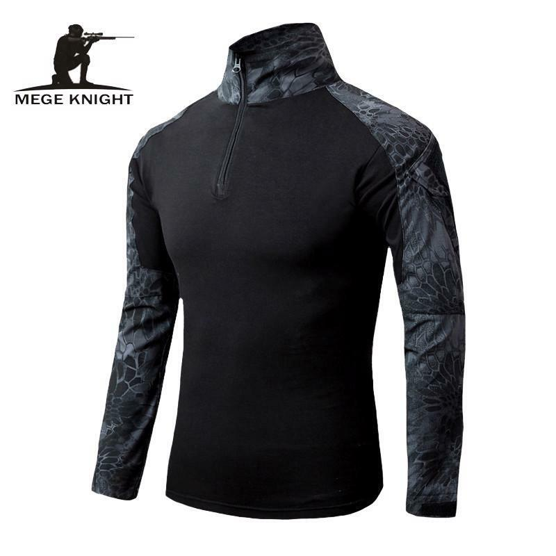 Men Military Airsoft Combat Shirt Tactical Gear Rapid Assault Long Sleeve Top