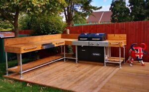 Outdoor Bbq Kitchen Standard Sizes Or