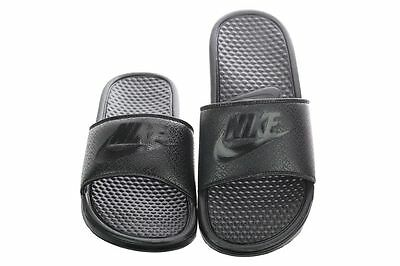 save off 7d135 951fc Nike Benassi JDI Men's Slide Black/Black Slipper 343880 001 Free Shipping    eBay