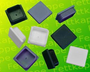 Lamellenstopfen Quadratrohr 40x40mm Schwarz, Weiß oder Grau - Farbe + WS wählbar