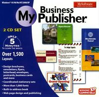 Mysoftware My Business Publisher 8/7/vista/xp Create Marketing Materials Design