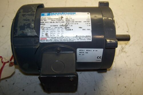 NEW MARATHON AC ELECTRIC MOTOR 56C FRAME 1725 RPM 1//3 HP 208//230-460 VAC