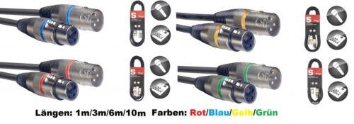 in verschiedenen Längen und Farben Mikrofon-Kabel XLR//XLR G14..