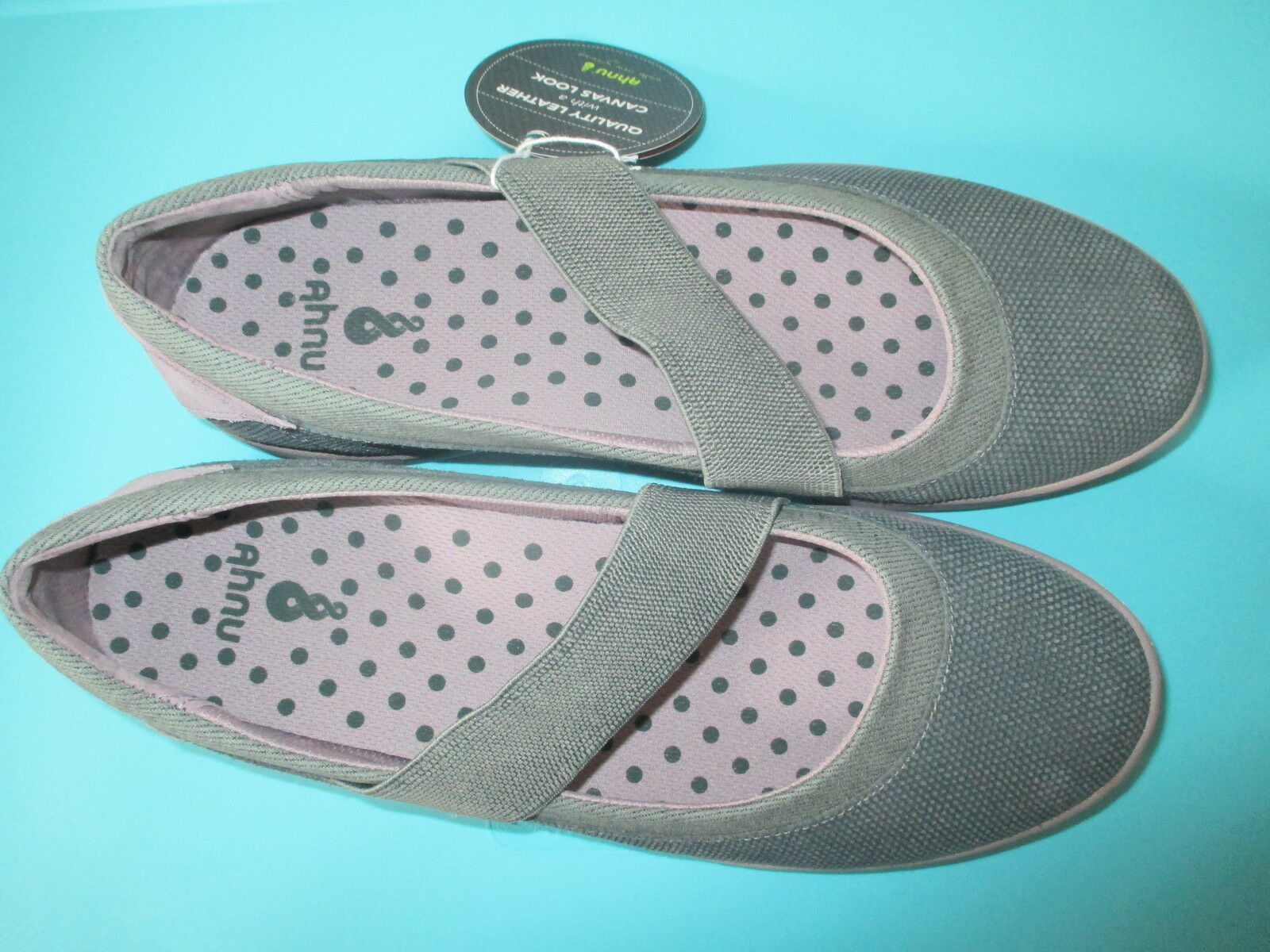 NEW Ahnu Telegraph Slip On SHOES FLATS 10.5 41.5  99 Retail Leather Grey