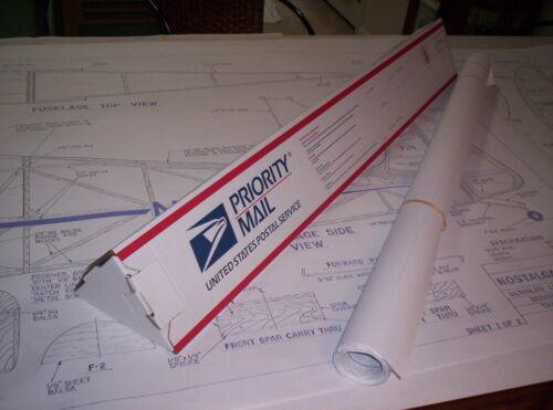 1//2 Maßstab Knospe Nosen Citabria Riesig RC Modell Flugzeug Bedruckt Plans