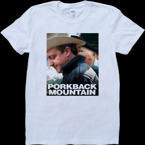 David cameron piggate porkback mountain funny cochon blanc homme custom made tshirt