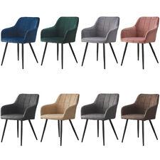 2 Pcs Dining Chairs Armchair PU / Velvet  Kitchen Dining Room Restaurant Office