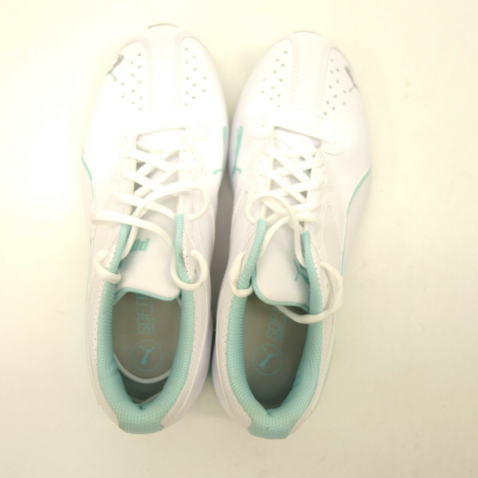 Puma Womens Size 9.5 White White White Leather Lace Up Running Trail Sneaker New shoes 0f0c85