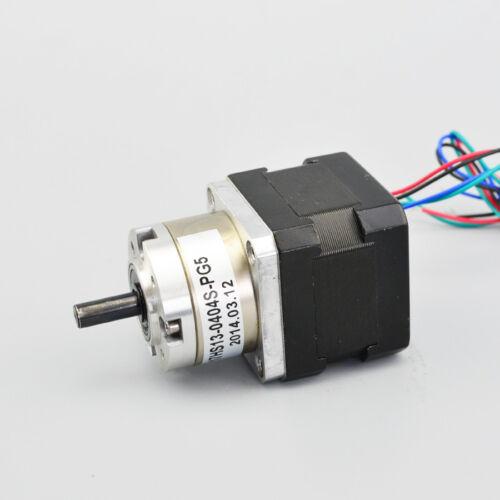5:1 Nema 17 Gear Ratio planetaria Gearbox 0,4 un motor de pasos Bipolar Paso A Paso OSM