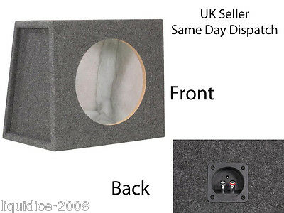 "SE12CC SEALED 12"" SUBWOOFER ENCLOSURE BOX PRE WIRED WITH FAST ON TERMINALS"