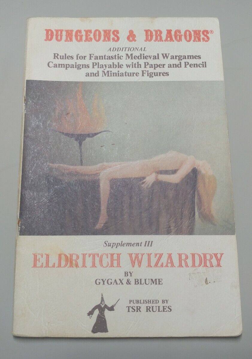 Dungeons and Dragons Eldritch Wizardry Supplement TSR April 1979 8th printing