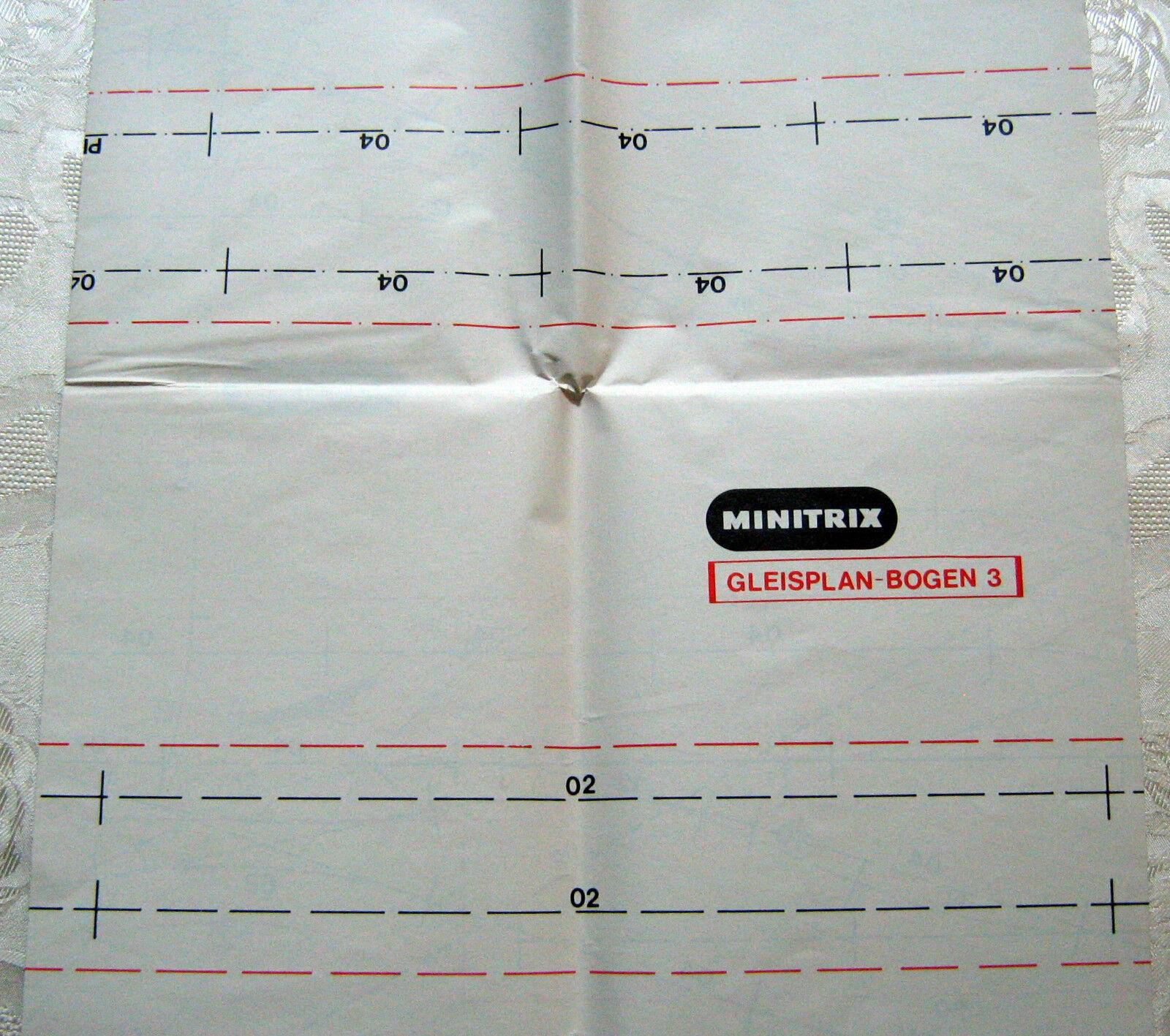 Minitrix Spur N Gleispläne Gleisplanbogen 1 2 3 4  | Verrückter Preis