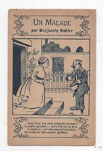 RABIER-Carte-postale-Un-Malade-Carte-publicitaire-Extrait-Picard