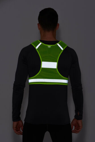 Haute Visibilité Léger Réfléchissant Course//Cyclisme//Walking Bib Gilet Jaune