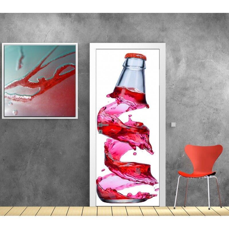 Cartel Póster para Puerta - Botella 729 Arte Decoración Pegatinas