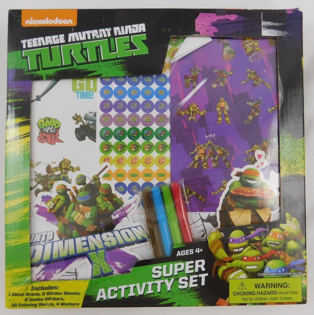 NEW TMNT Teenage Mutant Ninja Turtles Light-up Sketchbook box set stickers pen