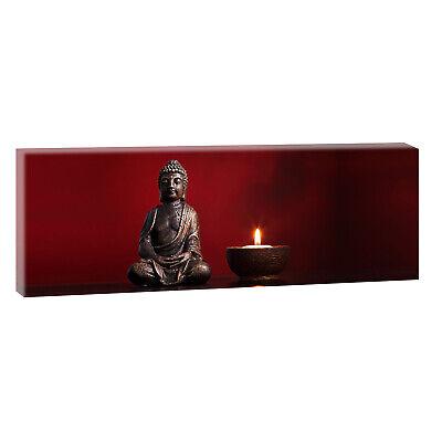 Buddha Panorama Leinwand  Feng Shui Modern Design  Poster XXL 150 cm*50 cm 643