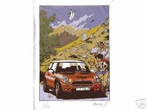 WALTHERY-Natascha-MINI-COOPER-lim-Artprint-Druck-Ex-Libris-signed