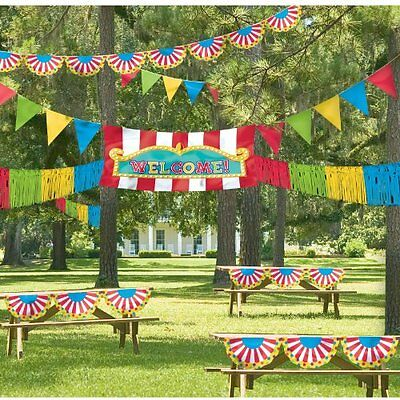 NEW Carnival Themed Giant Decorating Kit Birthday Party Colorful Banners Sign