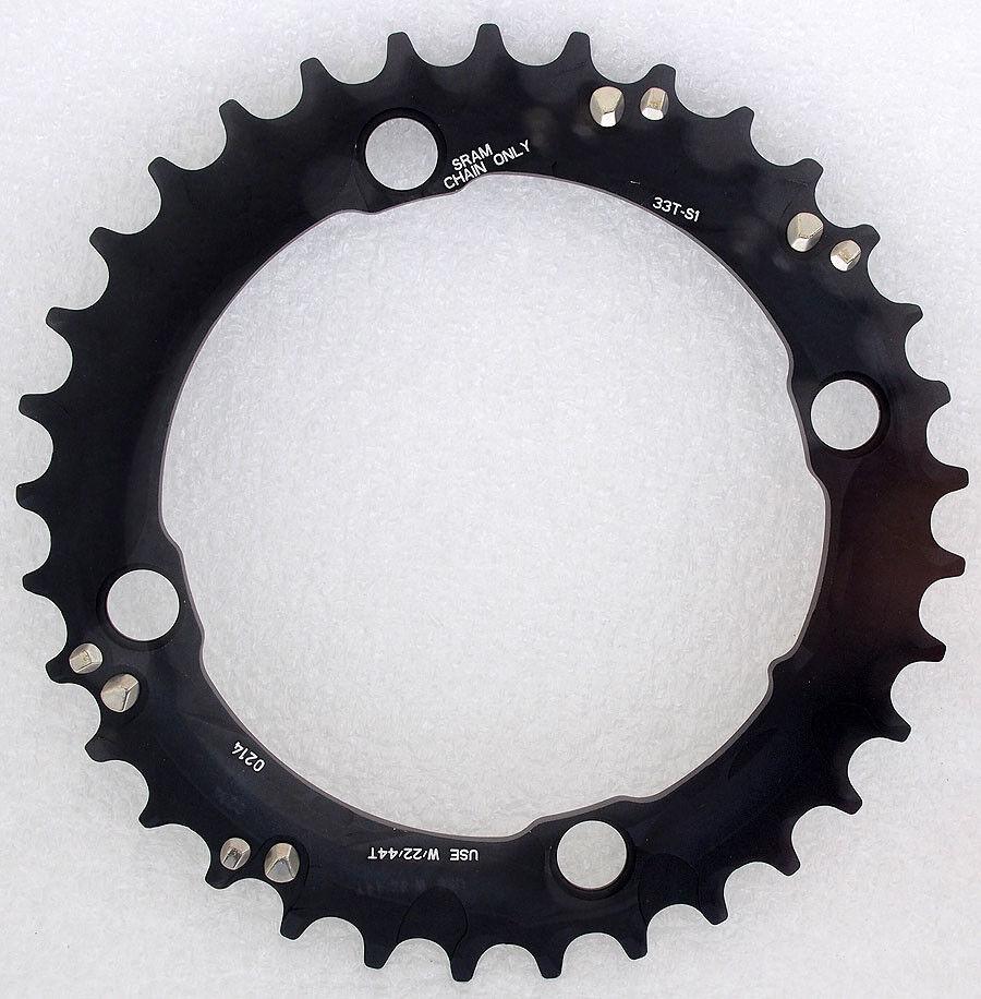 Truvativ Sram MTB Plato S1 BCD 104 mm 33 T Negro, Para 44-33-22 velocidad 3x10