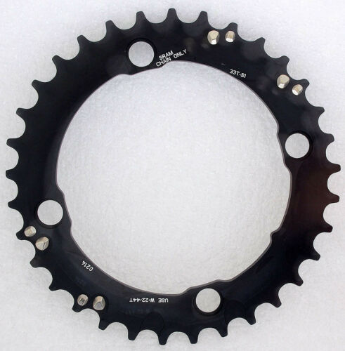 Truvativ Sram MTB Chainring S1 BCD 104mm 33T Black For 44-33-22 3x10 Speed