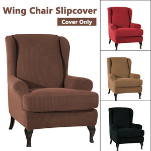Elastic-Fibre-Armchair-Wingback-SlipCover-Wing-Chair-Cover-Stretch-Protector-AA
