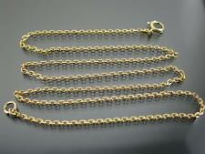 ANTIQUE 9ct GOLD FACETED BELCHER LINK NECKLACE CHAIN 17 inch C.1910