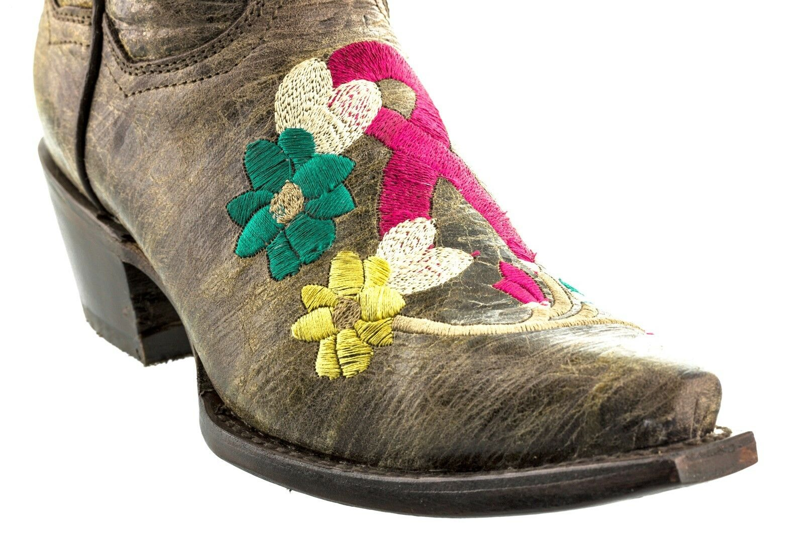 Damenschuhe Damenschuhe Damenschuhe Braun Breast Cancer Awareness Ribbon EmbroideROT Cowgirl Stiefel Snip Toe 2f9089