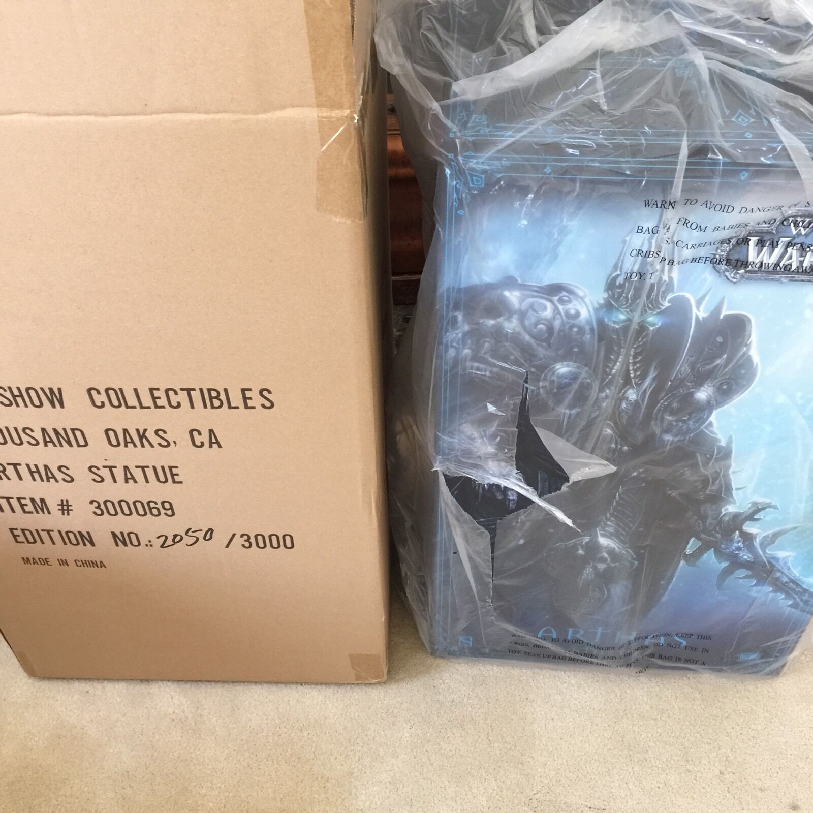 Rare WoW Lich King Statue Arthas Polystone Statue by Sideshow (Sealed Sold Out )