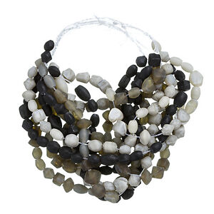 Pebblestone-Mix-Matte-Glass-Chip-Beads-3-x-16-inch-Strands-3-7mm-H96