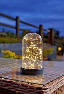 40 LED Large Bell Jar Cloche Dome