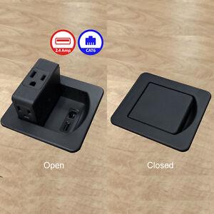 RJ45 Prises-electriduct Flip Top Mini-Bureau de centres de pouvoir-AC Power USB