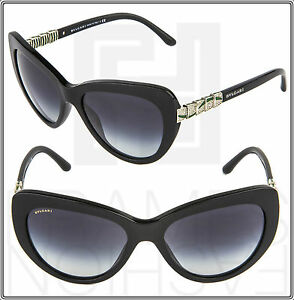 d799afbd48 Image is loading BVLGARI-Serpenti-BV8143-501-8G-Black-Green-Sunglasses-