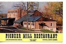 Pioneer Mill Restaurant-Tiffin-Ohio-Vintage Advertising Postcard-Map