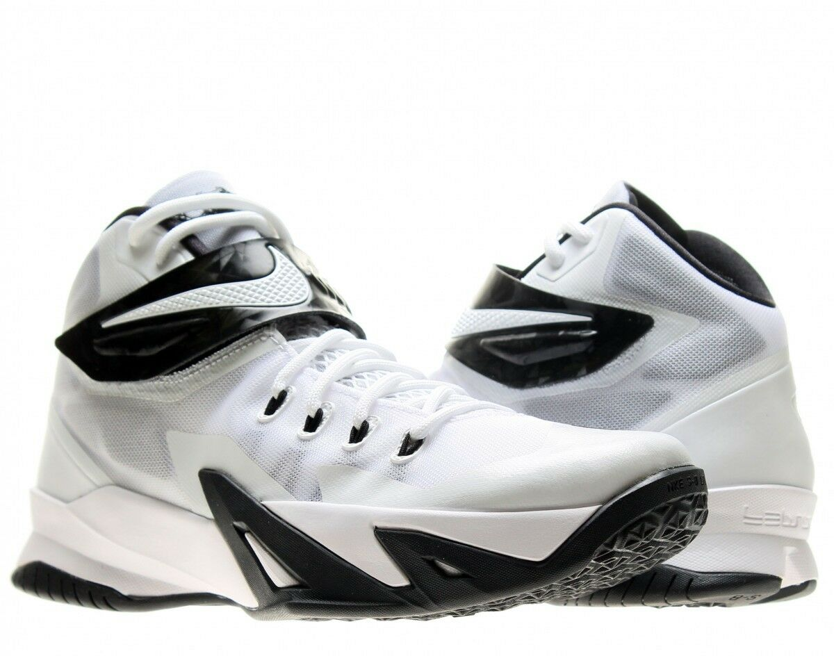 2f3e0728f97149 ... NEW NIKE Zoom Lebron Soldier VIII VIII VIII Basketball Shoes Men s 17.5  M Black White 1dd61a ...