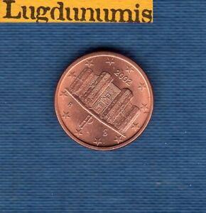 Italie 2002 1 centime SUP SPL provenant d'un rouleau Italia