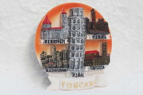 Toscana Lucca Pisa Siena ITALY 3D Fridge Magnet Resin Souvenir Tourist Gift