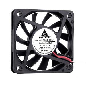24V 50mm x 20mm 5CM 2Pin DC Brushless Computer Heatsink Cooling Cooler Fan